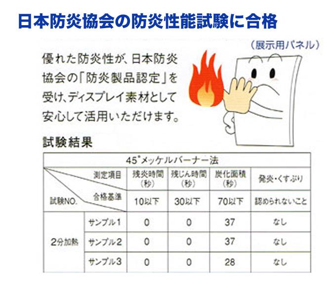 防炎性能試験合格商品